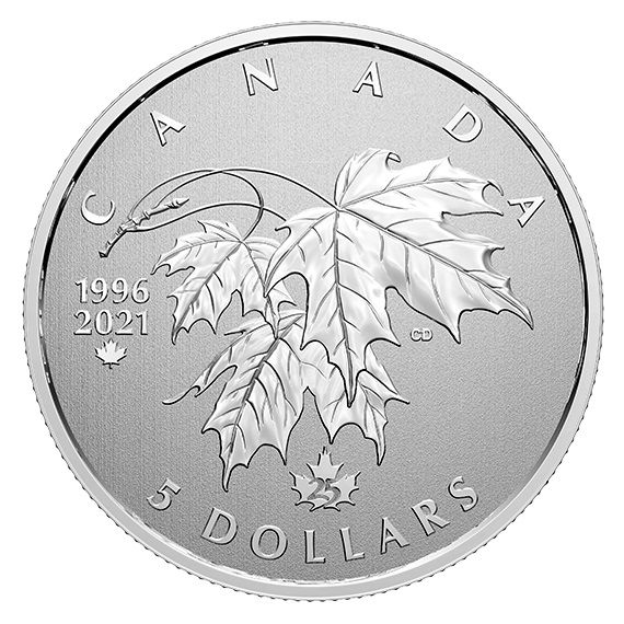 5 Dollar Kanada Moments to Hold - Arboreal Emblem 2021 Silber St