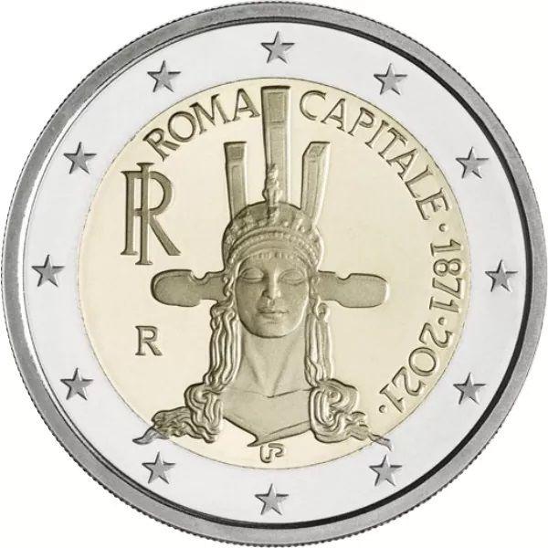 2 Euro Italien 150 J. Hauptstadt - Rom 2021 CuNi bfr