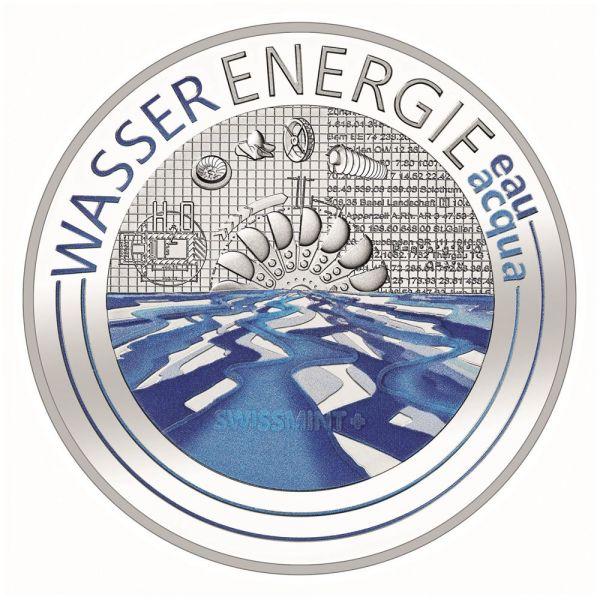 20 CHF Schweiz Wasserenergie 2021 Silber PP