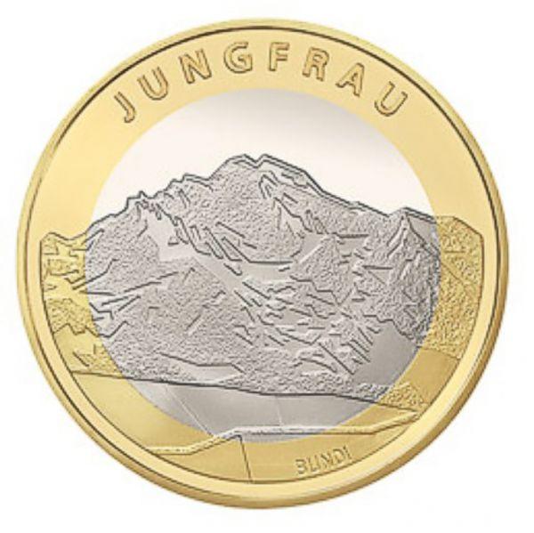 10 CHF Jungfrau 2005 St