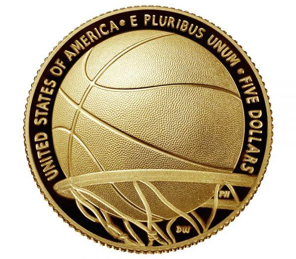 5 Dollar USA Basketball - Hall of Fame 2020 Gold PP