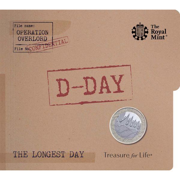 """2 Pfund Großbritannien """"75. Jahrestag des D-Day"""" 2019 CuNi St"""