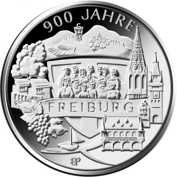 20 Euro DE 900 Jahre Freiburg 2020 Silber PP -G-