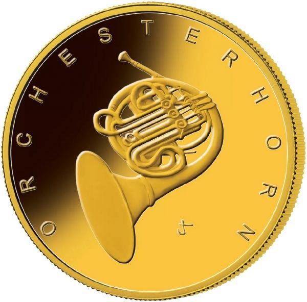 50 Euro DE Orchesterhorn 2020 Gold St 1/4oz -F-