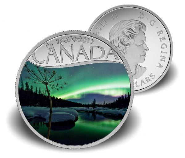 "10 $ Kanada ""Aurora Borealis - McIntyre Creek"" 2017 Ag -farbig- PP"