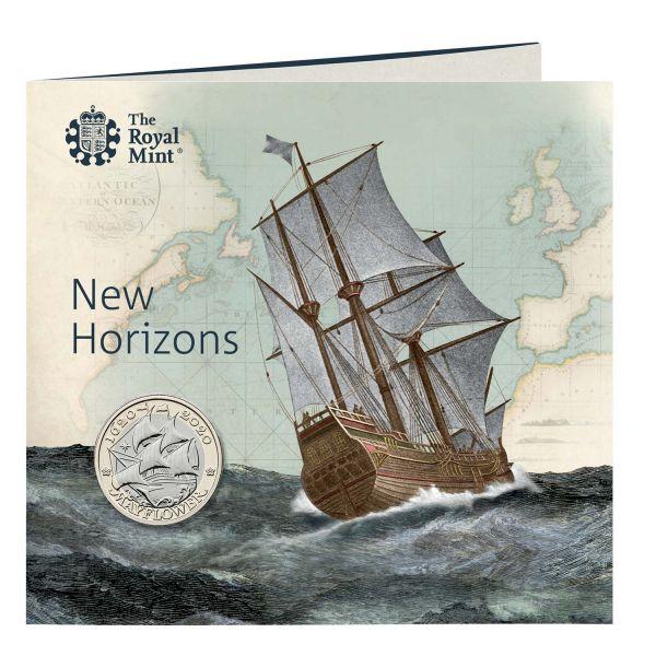 2 Pfund GB 400. Jahrestag Mayflower 2020 CN St Blister