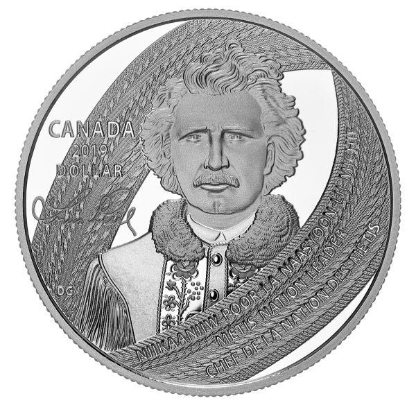 1 Dollar Kanada 175. Geburtstag Louis Riel: Father of Manitoba 2019 Silber PP