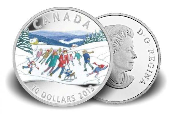 10 $ Kanada Winter Szene 2013 Ag PP