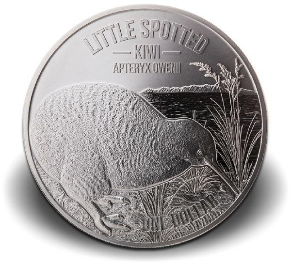 "1 Dollar Neuseeland ""Kiwi"" 2018 Ag St Blister"