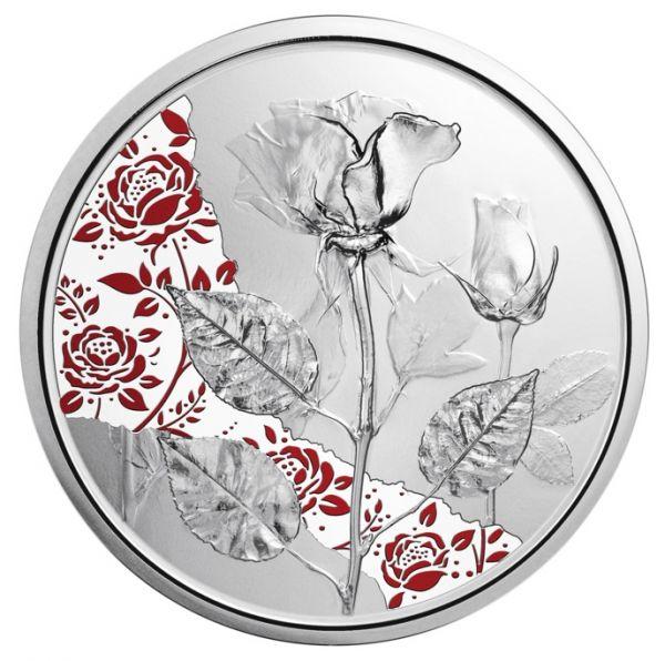 10 Euro Österreich Die Rose 2021 Silber PP