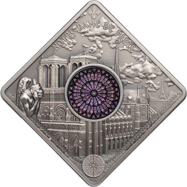 """10 $ Palau """"Notre Dame Cathedral"""" 2017 Ag AF"""