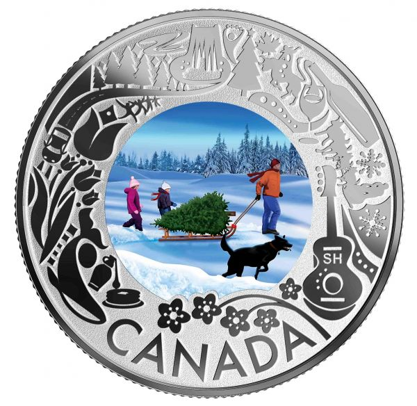 3 Dollar Kanada Kan. Feste - Weihnachtsbaum 2019 Silber PP