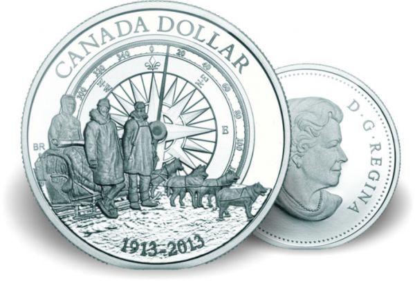 "1 $ Kanada ""100J. Arktis Expedition"" 13 Ag St"