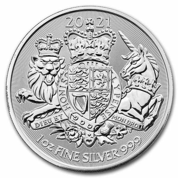 2 Pfund GB Royal Arms 2021 1oz Silber St