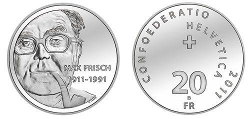 20 CHF 100. Geburtstag von Max Frisch 2011 st