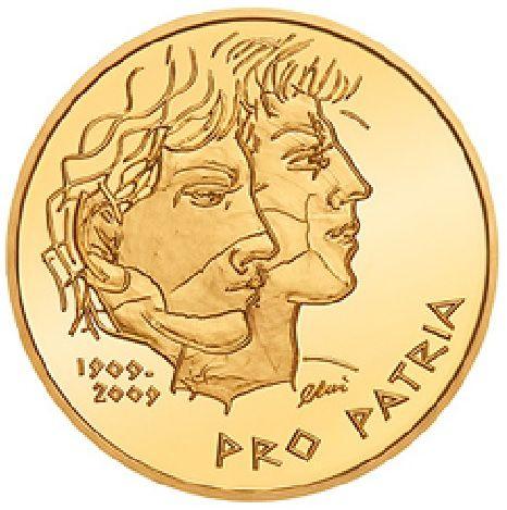 """50 CHF Schweiz """"Pro Patria"""" 2009 Gold PP"""