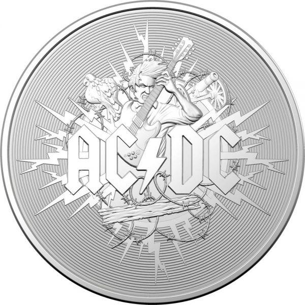 1 Dollar Australien 45 Jahre AC/DC 2021 Silber St