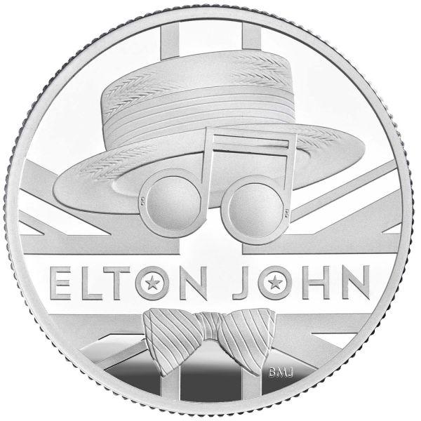 1 Pfund GB Elton John - Musiklegenden 2020 Silber PP