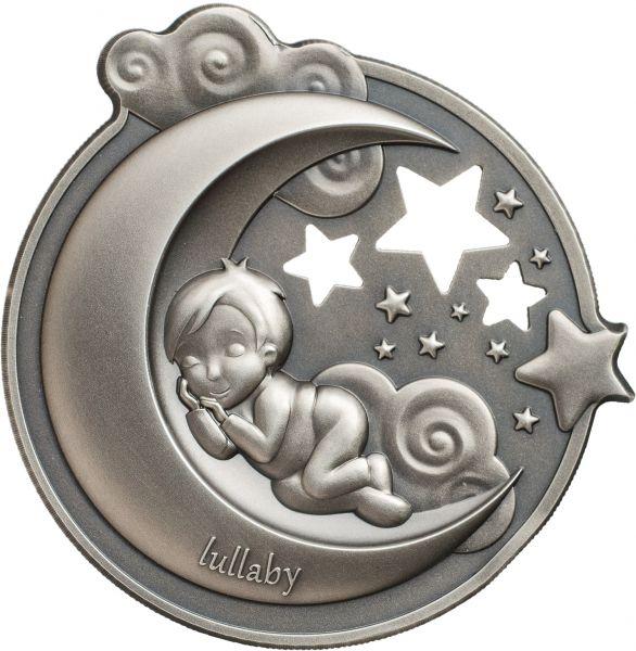 """5 $ Cook Islands """"Lullaby – Dreaming Boy"""" 2018 Silber AF"""