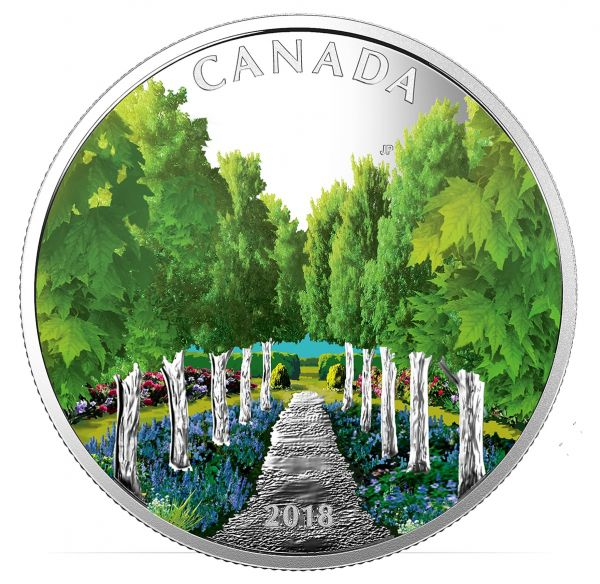 "20 $ Kanada ""Ahornbaum-Tunnel"" 2018 Silber PP"