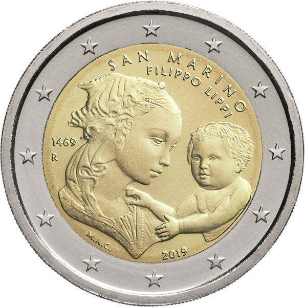 2 Euro San Marino 550. Todestag Filippo Lippi 2019 CN St