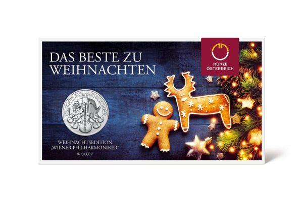 1,50 € ÖS Philharmoniker - Weihnachtsedition 2020 Silber St
