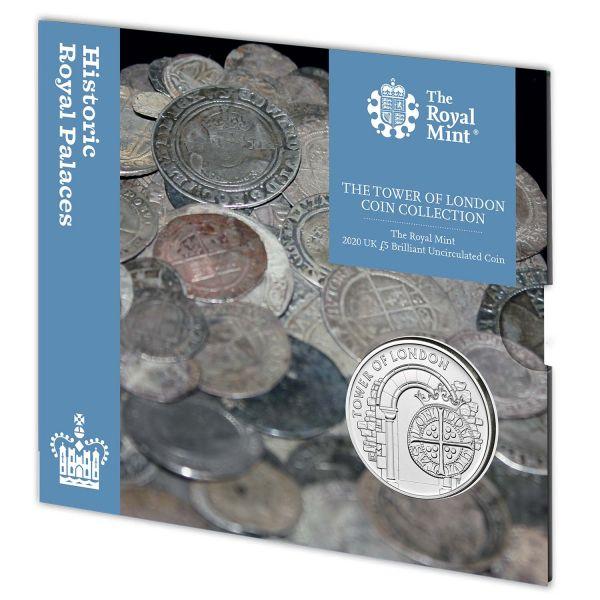 5 Pfund Großbritannien Münzprägung 2020 CuNi St