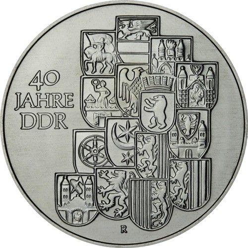 10 Mark DDR 40 Jahre DDR 1989 Cn St