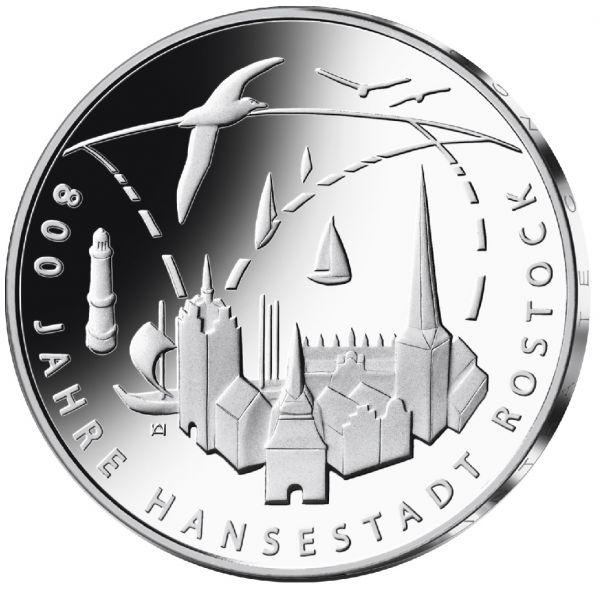 """20 € DE """"800 Jahre Hansestadt Rostock"""" 2018 Ag St -J-"""