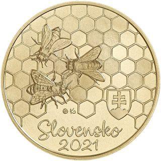 5 Euro Slowakei Flora & Fauna - Honigbiene 2021 CN St