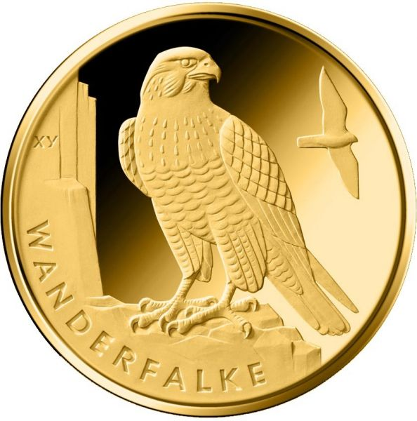 """20 € DE """"Wanderfalke"""" 2019 Gold St 1/8oz -G-"""