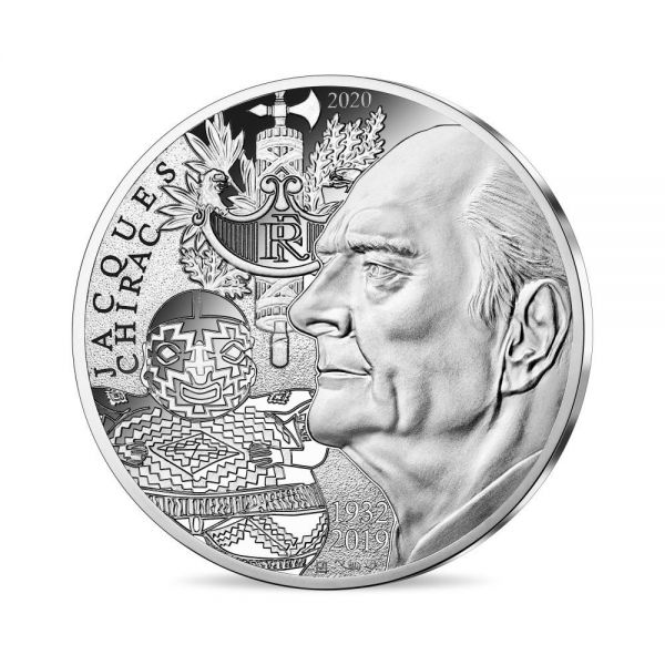 20 Euro Frankreich Jacques Chirac 2020 Silber PP