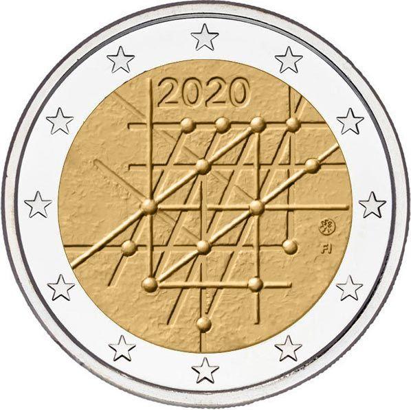 2 Euro Finnland 100 J. Universität Turku 2020 CuNi bfr