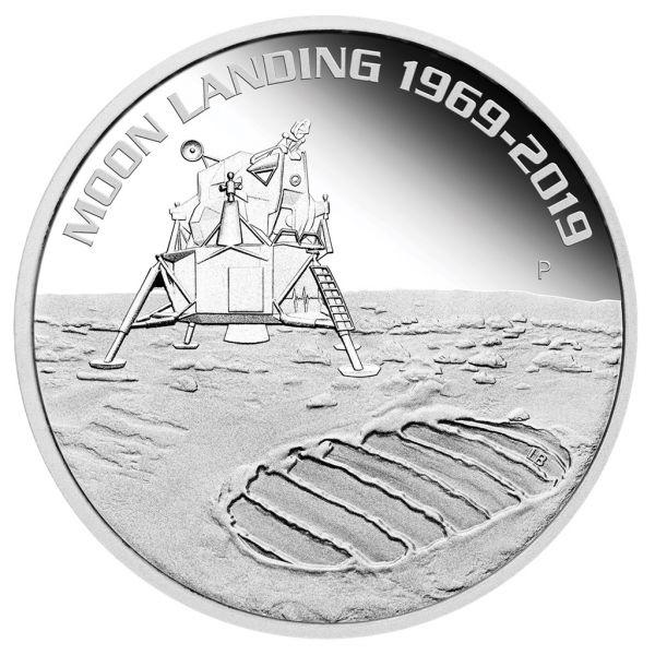 """1 $ Australien """"50 J. Mondlandung"""" 2019 Silber PP"""