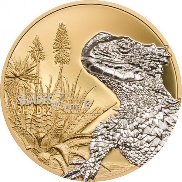"""5 $ Cook Islands """"Sungazer Lizard"""" 2018 Silber PP"""