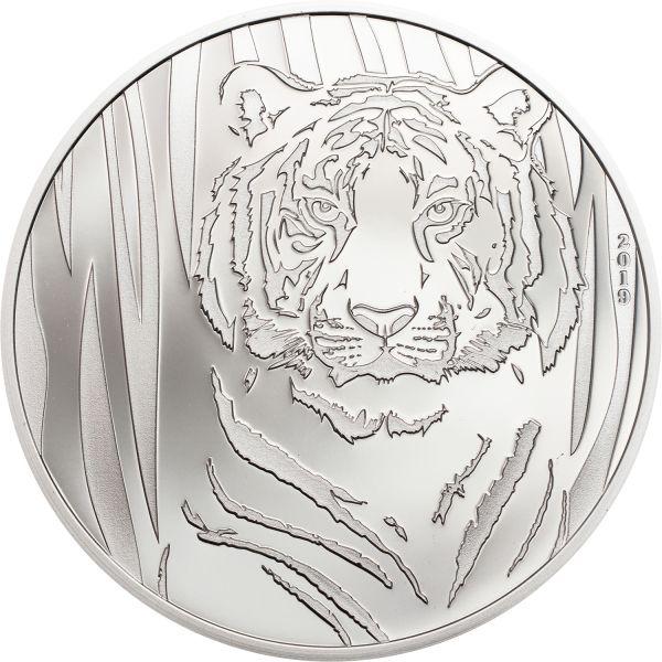 250 Togrog Mongolei Hidden Tiger 2019 Silber PP