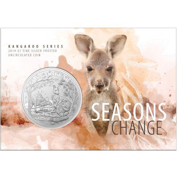 1 $ Australien Känguru 2019 Blister Silber St