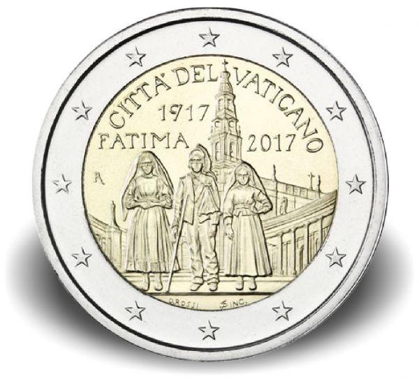 """2 € Vatikan """"100J. Erscheinungen von Fatima"""" 2017 CN st"""