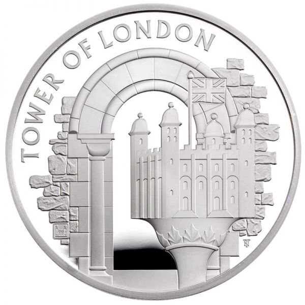 5 Pfund Großbritannien The White Tower 2020 Silber PP