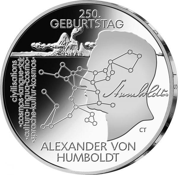 """20 € DE """"250. Gb. Alexander von Humboldt"""" 2019 Silber St -F-"""