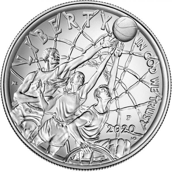 1 Dollar USA Basketball - Hall of Fame 2020 Silber St