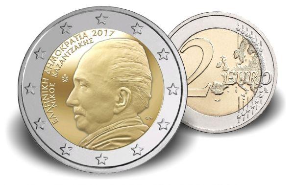 "2 € Griechenland ""60. Todestag Nikos Kazantzakis"" 2017 CN bfr"