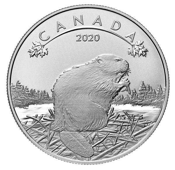 10 Dollar Kanada O Canada - Biber 2020 Silber St