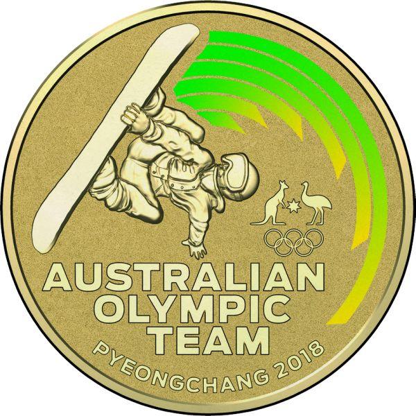 "1 Dollar Australien ""Oly Team PyeongChang"" 2018 Al/Br St"