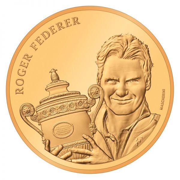 50 CHF Schweiz Roger Federer 2020 Gold PP
