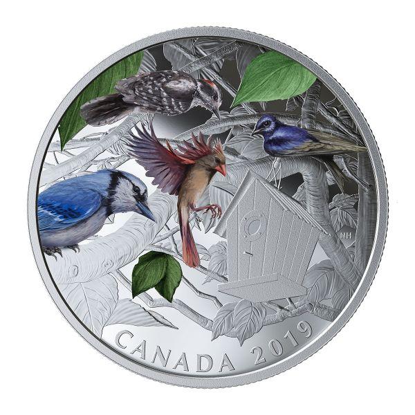 "30 $ Kanada ""Vögel im Garten"" 2019 Silber PP"