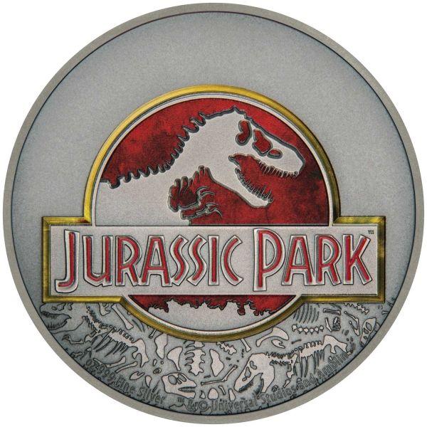 "2 Dollar Niue ""25 Jahre Jurassic Park"" 2018 Ag PP"
