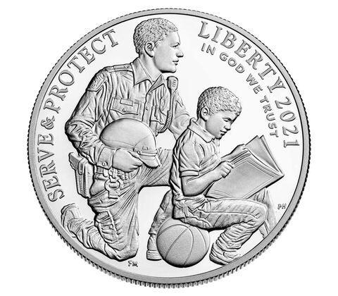 1 Dollar USA Nat. Strafverfolgungsmuseum 2021 Silber PP