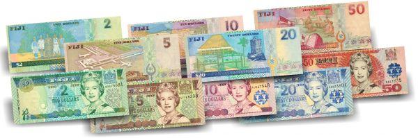 87 Dollar Fidschi Der erste Queen Banknoten-Satz druckfrisch
