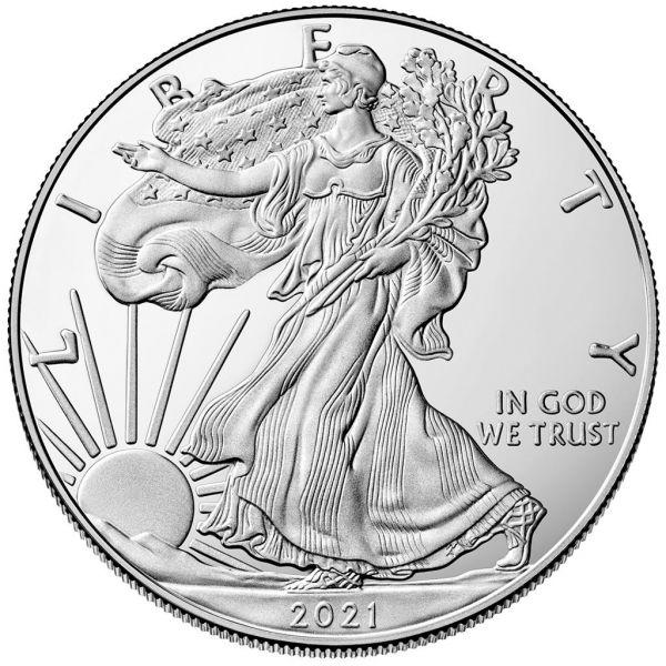 1 Dollar USA Silver Eagle 2021 1oz Silber St